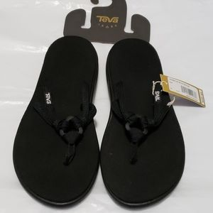 Women's Teva Voya Tri-Flip Black Sandals:6